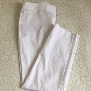 Talbots textured white ankle chinos in Sz 8